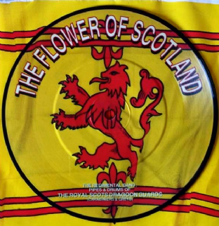 "Royal Scots Dragoon Guards (The) - The Flower Of Scotland (7"") (Picture Disc) (EX/EX+)"